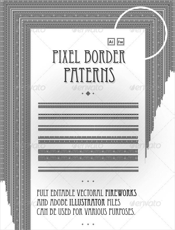 Fully Editable Pixel Border Patterns