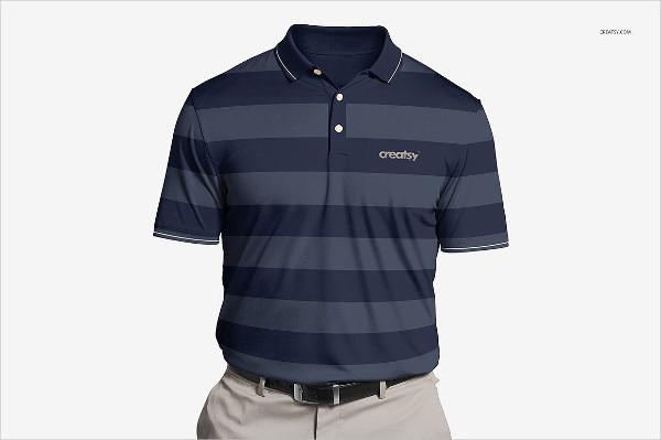 Polyester Polo Shirt Mockup Set