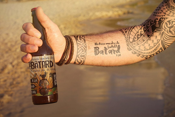 Professional Bottle Tattoo Mock-Up