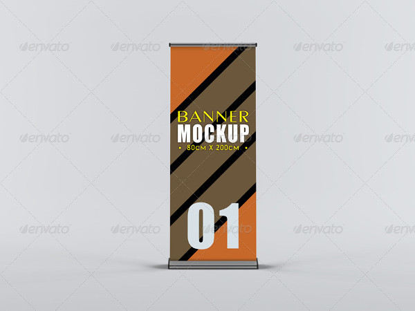 Professional Roll-Up Banner Mockup