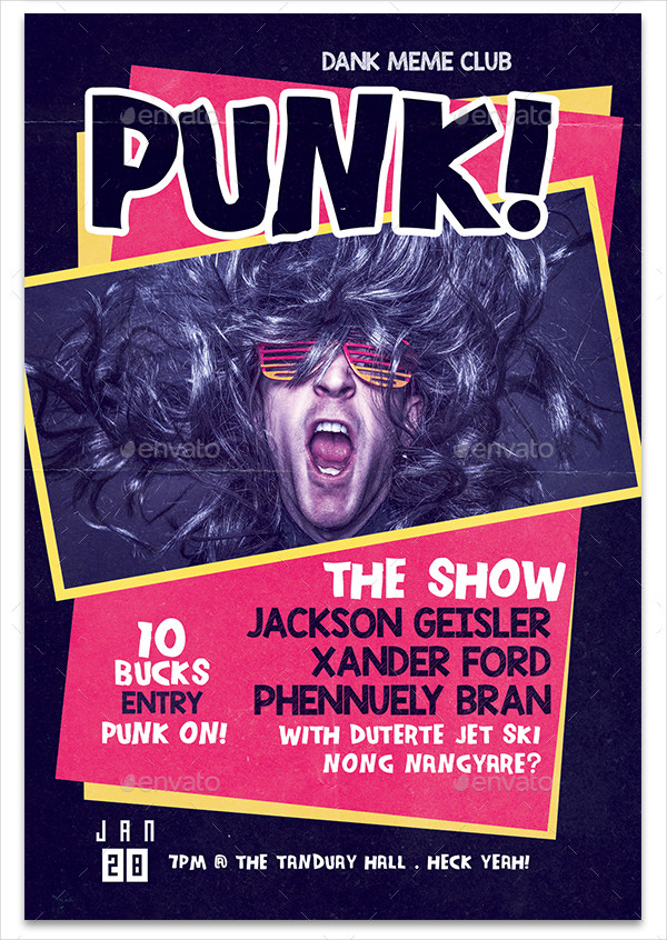 Punk Musical Flyer Template