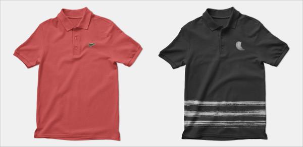 Realistic Polo Shirt Mockups Template