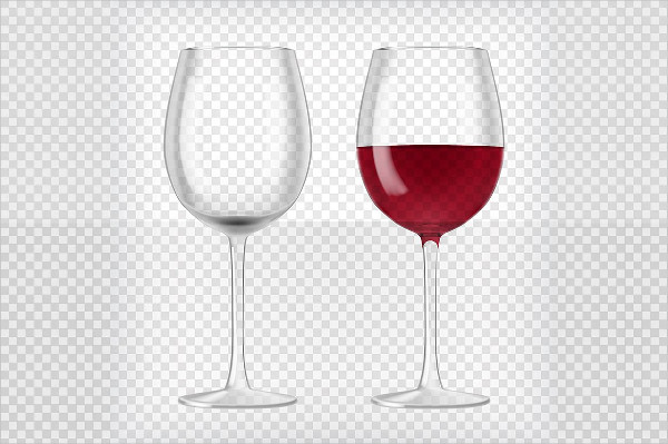 Realistic Wine Glasses Background