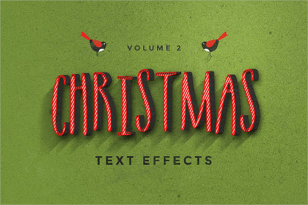 Retro Christmas Text Effects