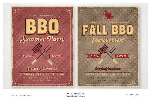 Retro BBQ Summer Party Flyer