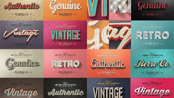 Retro Text Effects