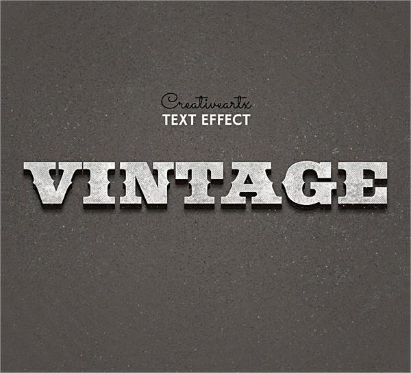 27 Unique Retro Vintage Text Effects