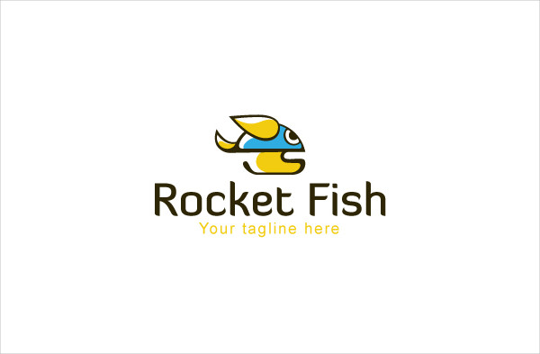 Rocket Fish Logo template
