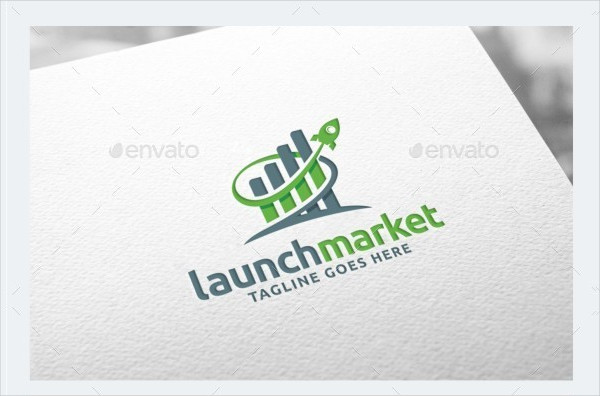 Rocket Growth Logo Template