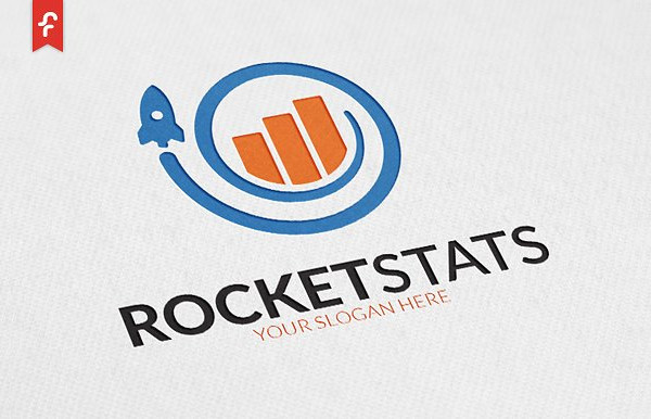 Professional Rocket Stats Logo Design