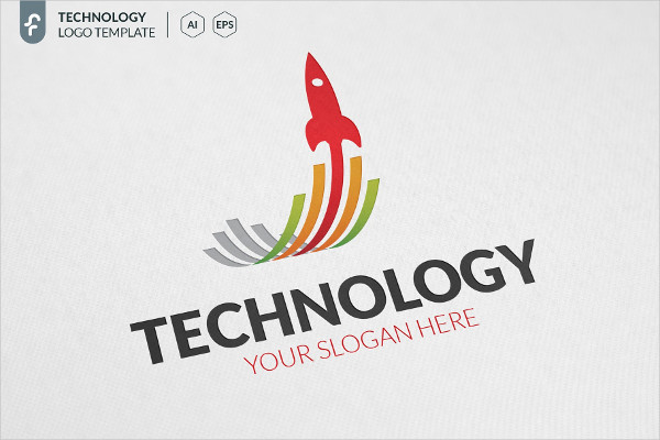 Rocket Technology Logo Template