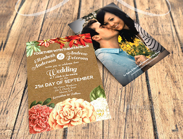 Rustic Garden Party Wedding Invitations