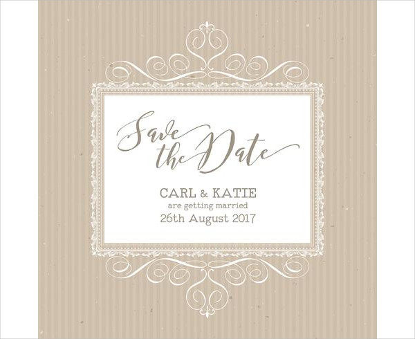 Rustic Save The Date Invitation Free