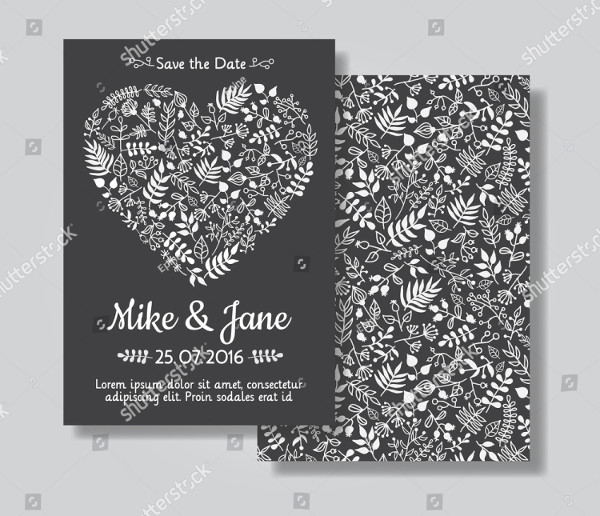Rustic Wedding Invitation Cards Set