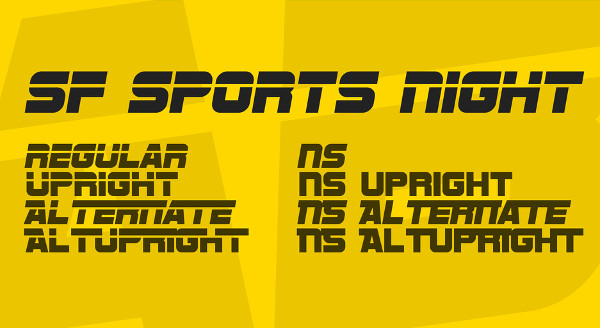 SF Sports Night Font Free Download