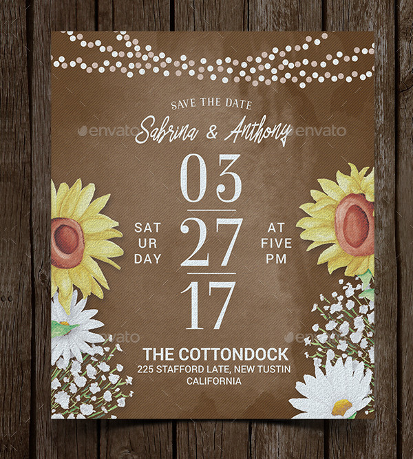 Rustic Printable Wedding Invitation Template