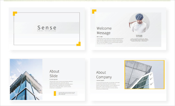 Sense Google Slide Presentation Template