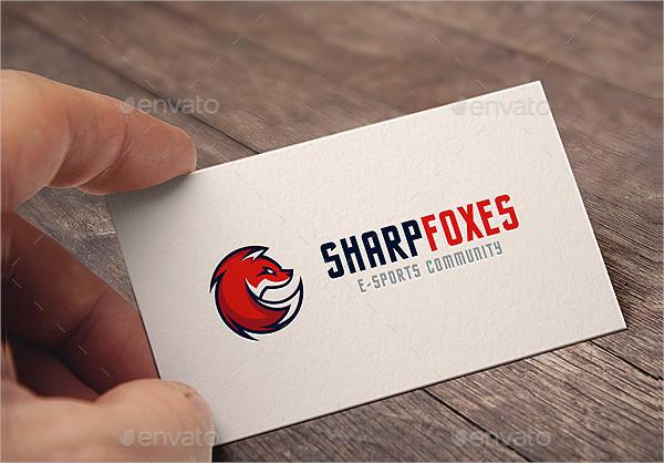 Sharp Foxes Logo Template