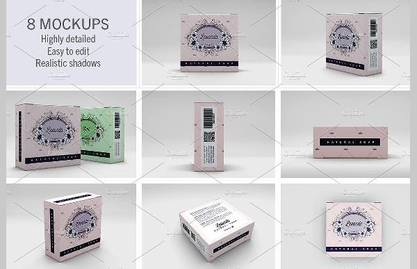 Elegant Soap Box Mockups PSD