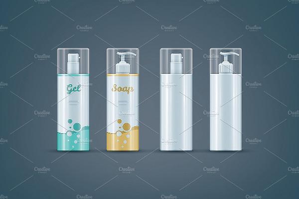 Soap Gel Bottles Mockups Set