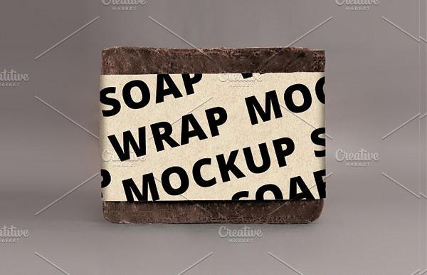Soap Wrap Label Mockup Design