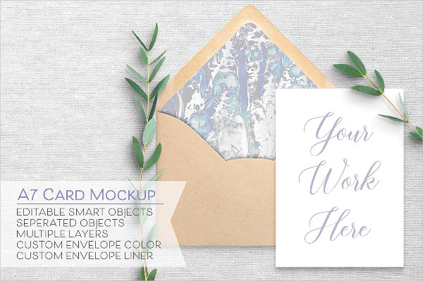 5x7 Card & Envelope Mockups