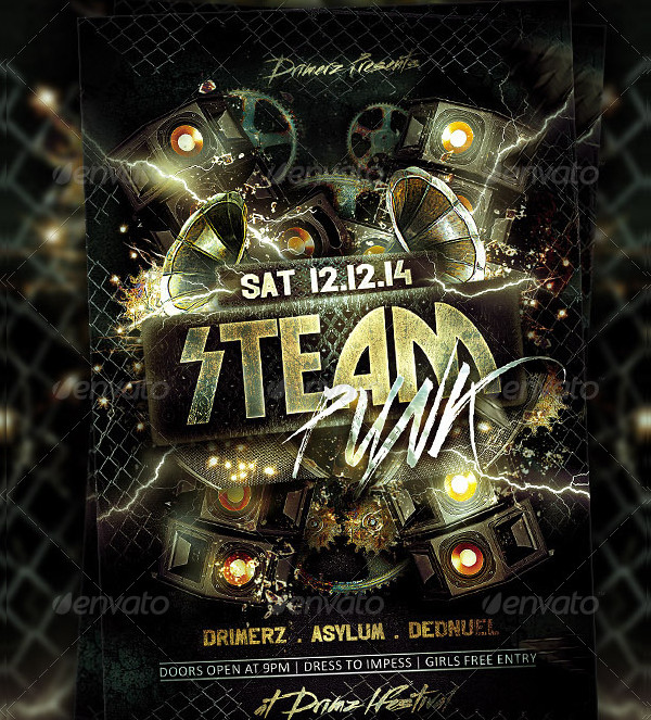 Steam Punk Flyer Template