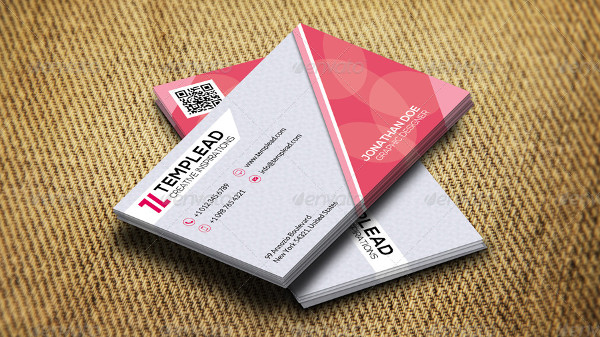 Stylish Pink Creative Business Card