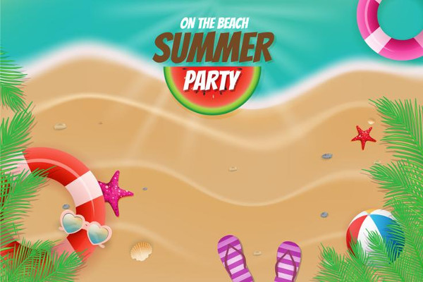 Summer Beach Free Vector Background