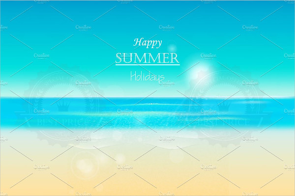 Summer Beach Panoramic Background