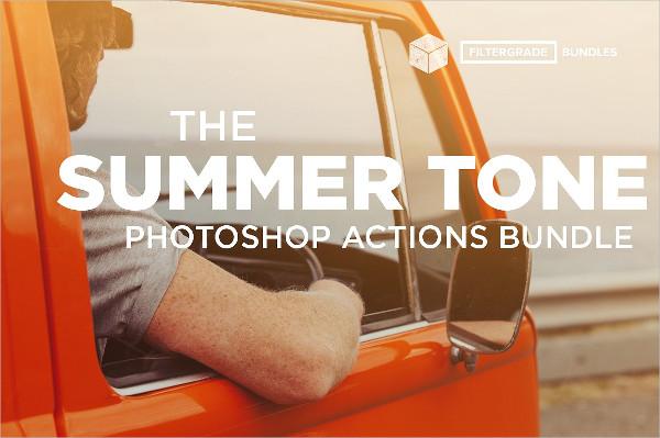 Summer Tone Photoshop Actions Bundle
