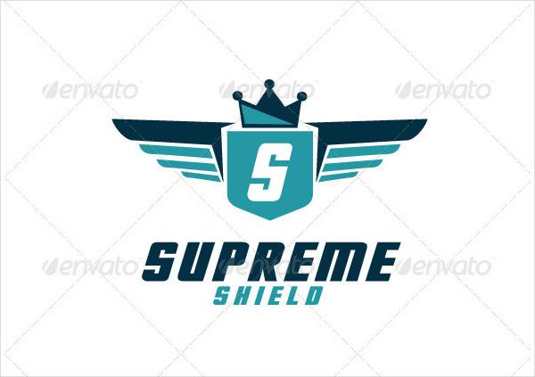 Supreme Shield Logo Template