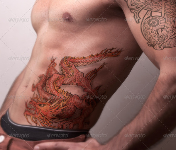 Tattoo Mockups Pack on Men Body