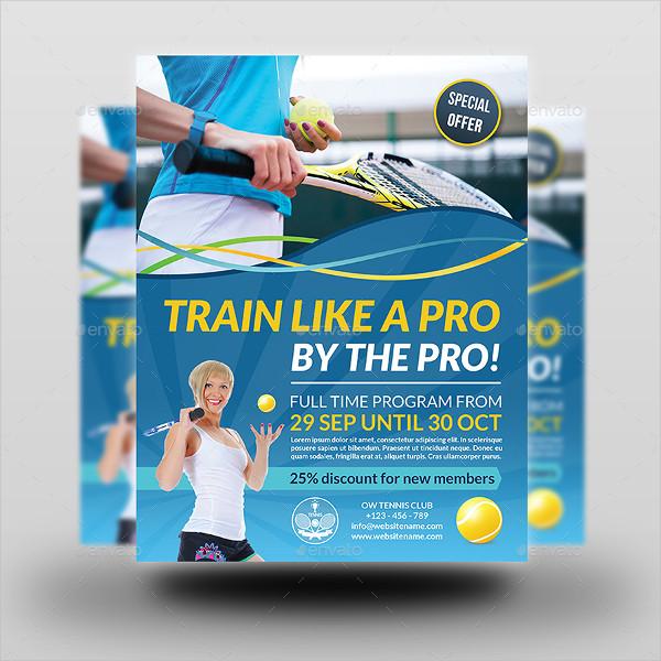 Tennis Training Flyer Template