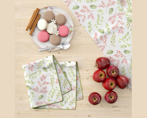 Kitchen Towel & Table Cloth Mockup Set