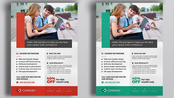 Training Flyers Template 27 Free Premium Designs Download