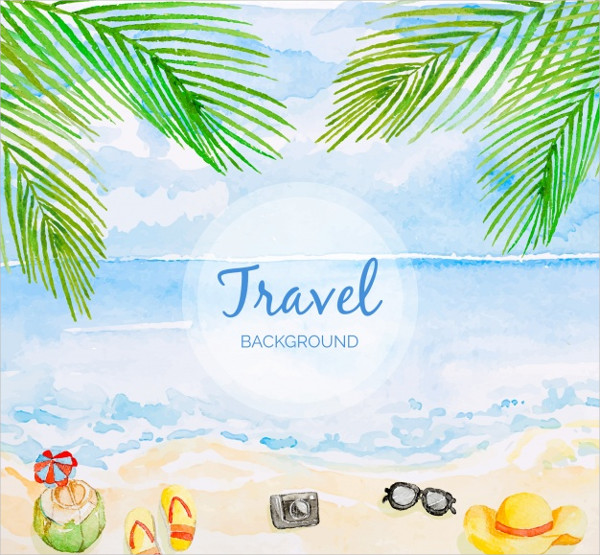Travel Background with Beach Free