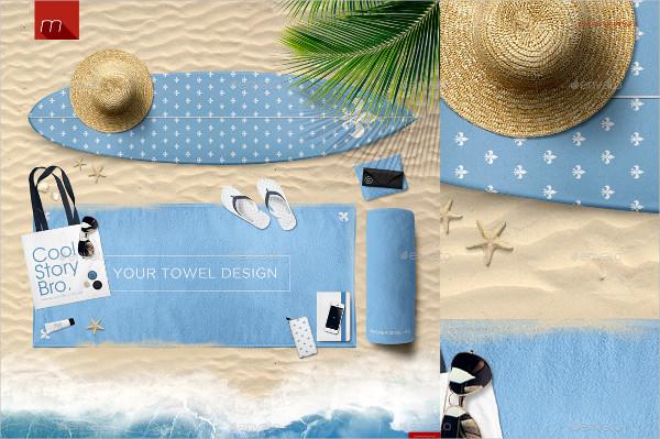 Professional Travel Towel Mock-Up Design