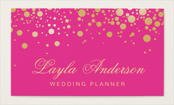 Trendy Girly Hot Pink Business Card