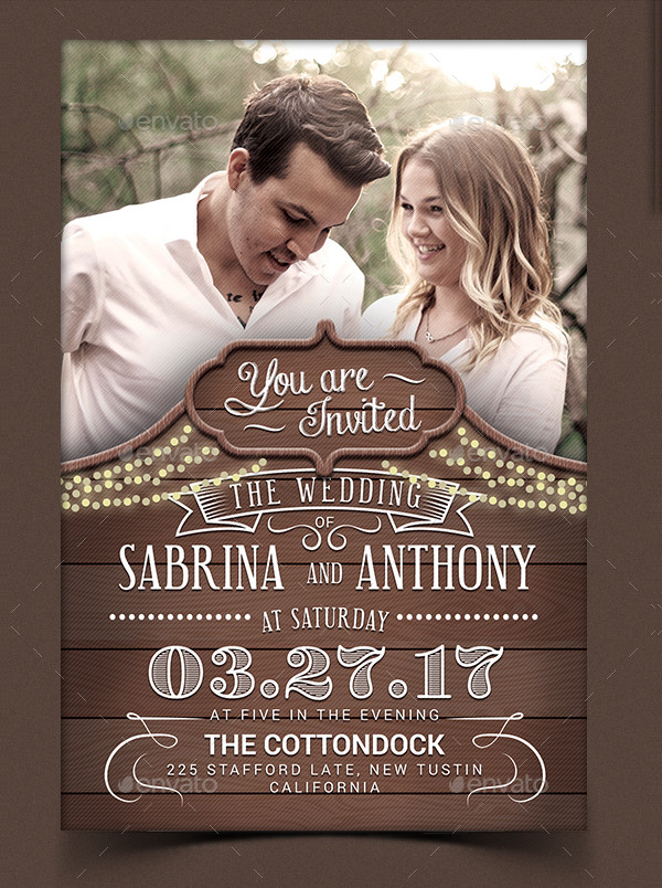 Popular Rustic Wedding Invitation