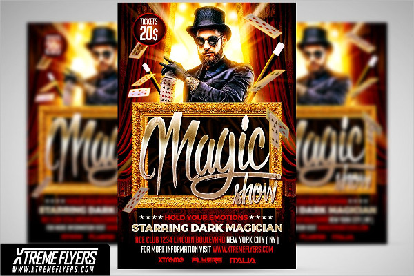 Unique Magician Flyer Design