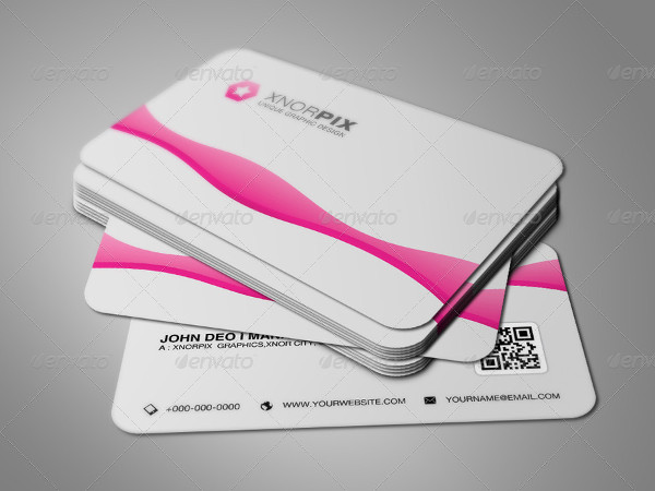 Unique Pink Business Cards Template