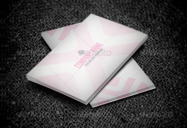 Unique Pink Business Card