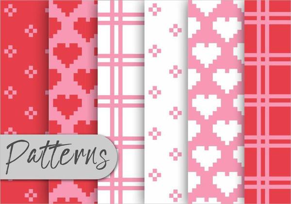 Valentine Pixel Pattern Set Free