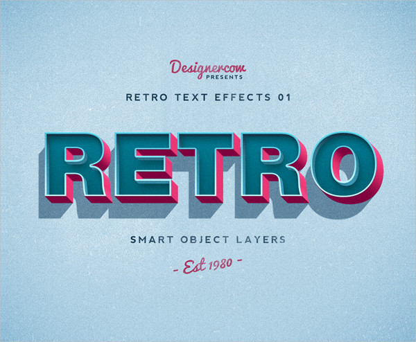 Photoshop Text Effects in Retro Styles