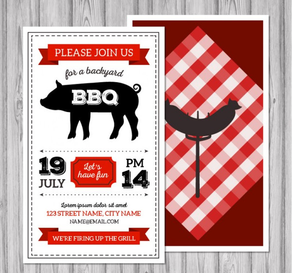 Vintage Retro BBQ Flyer Free Download