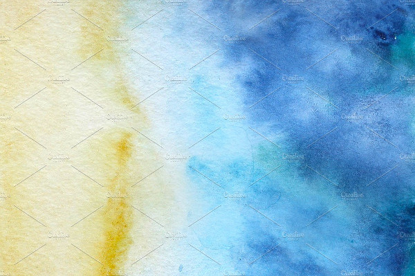Watercolor Beach Painted Background