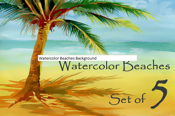 Watercolor Beaches Background