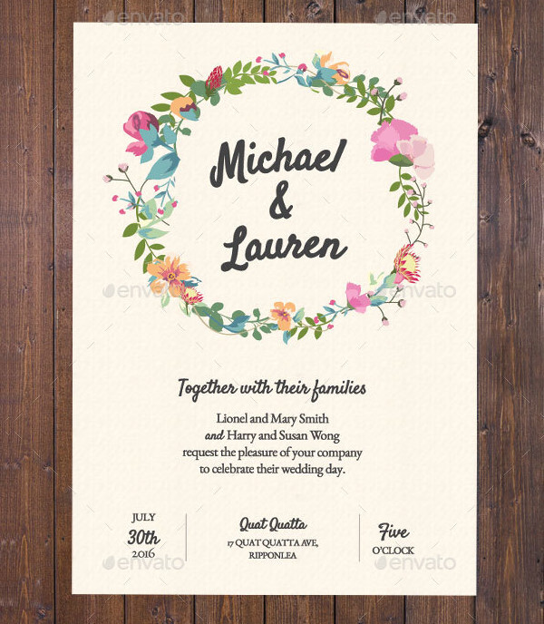 Wedding Invitation Garden Rustic Theme