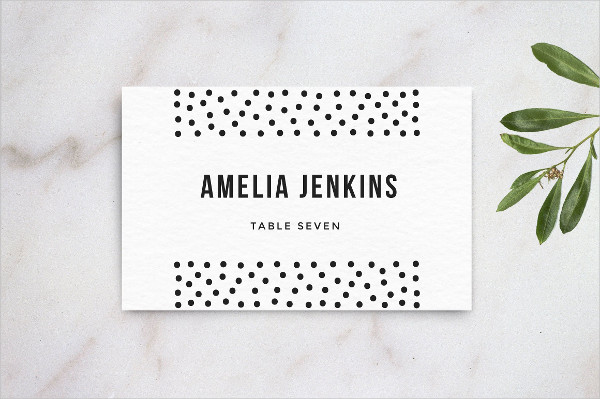 Wedding Table Name Card Template